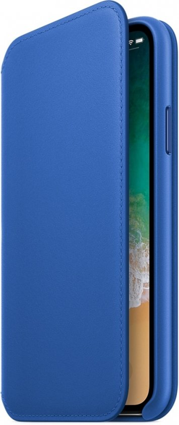 iPhone X Leather Folio - Electric Blue