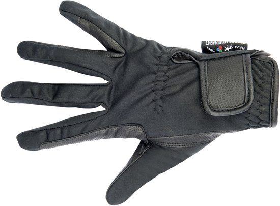 HKM Rijhandschoenen -Softshell- zwart 6