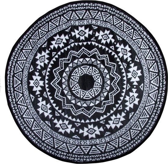 rond vloerkleed zwart wit
