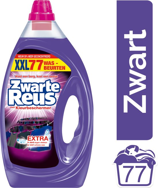 Zwarte Reus Gel wasmiddel - 77 wasbeurten - Kwartaalbox