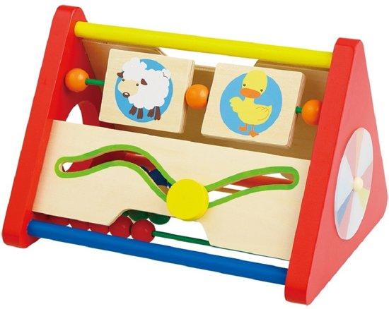 Afbeelding van Houten activiteiten driehoek speelgoed
