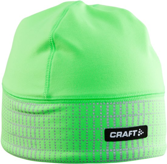 Craft Brilliant 2.0 Hat 1904302 - Muts - Gecko/Reflective - Unisex - Maat L/XL