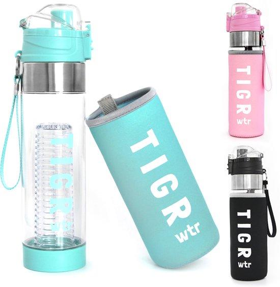 TIGR Waterfles met fruitfilter - Fruit filter infuser - 100% BPA vrij - 700ML - Blauw