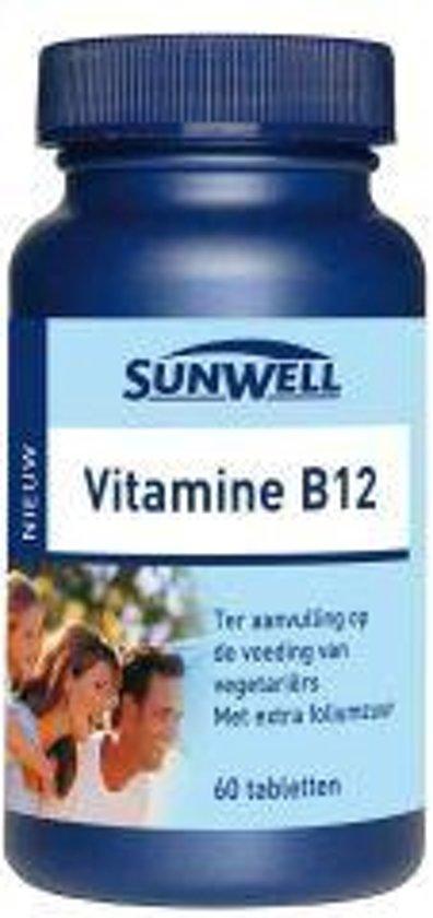 Sunwell Vitamine B12 25 mcg - 60 Tabletten