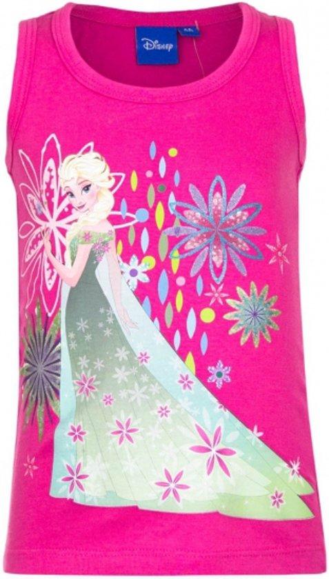 Mouwloos Frozen t-shirt roze 110