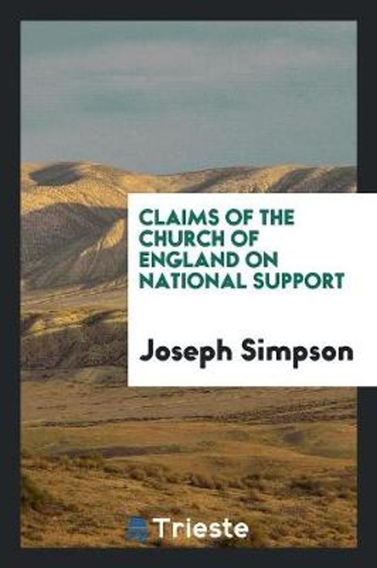 Claims of the Church of England on National Support