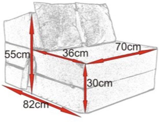 Luxe logeermatras - beige - camping matras - reismatras - opvouwbaar matras - 200 x 70 x 15 - met kussens