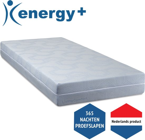 Energy+ NASA Traagschuim matras - 70 x 190 cm - Soepel