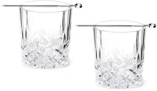 Whiskey Tumbler - Glas - Box met 2 glazen - Kikkerland