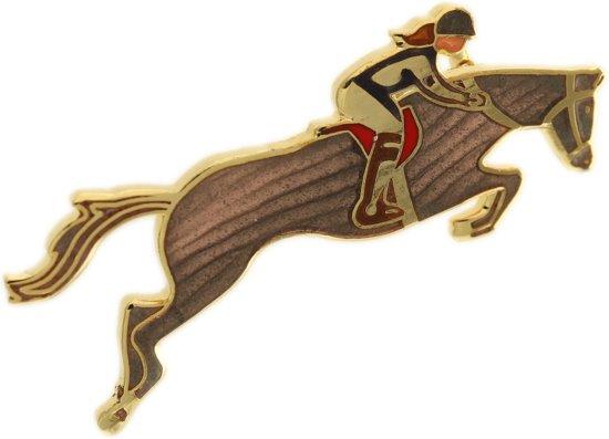 Behave® Broche bruin paard met ruiter
