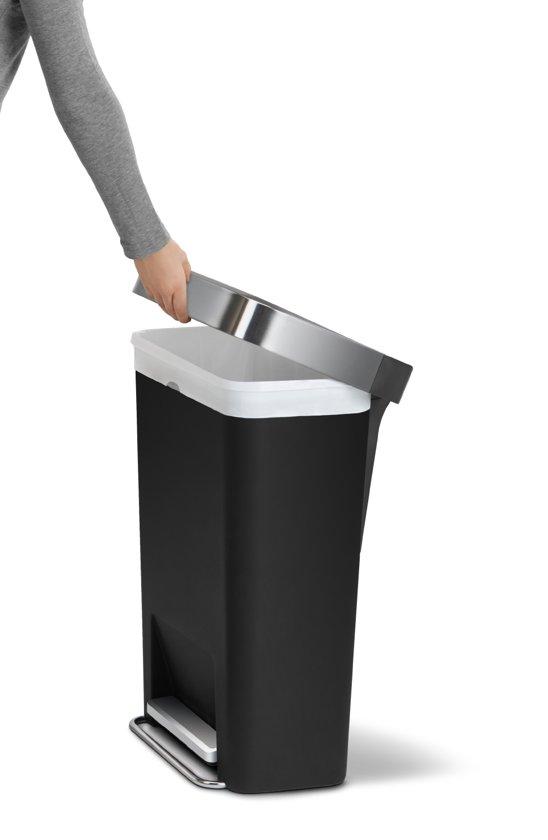 Simplehuman Rectangular Liner Pocket 45 Liter Zwart