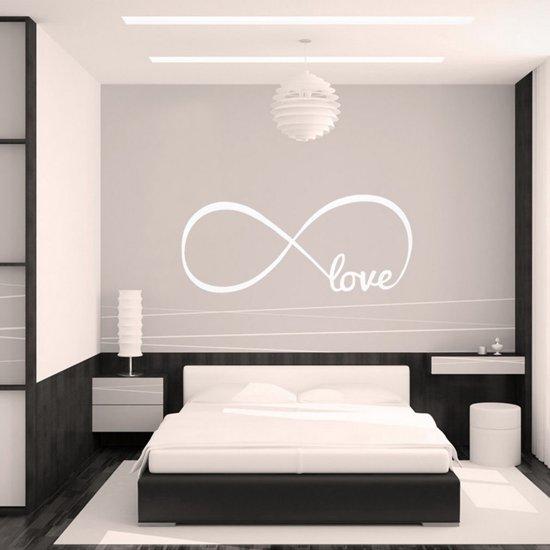 muursticker slaapkamer infinity symbool wit
