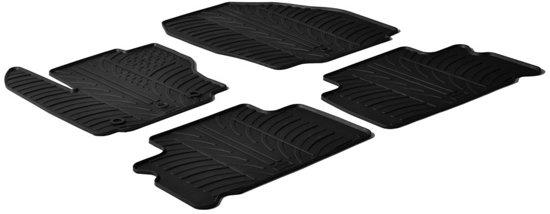 Gledring Rubbermatten passend voor Ford S-Max 5 deurs 2006-2011 & Ford Galaxy 2006-2010 (T profiel 4-delig + montageclips)