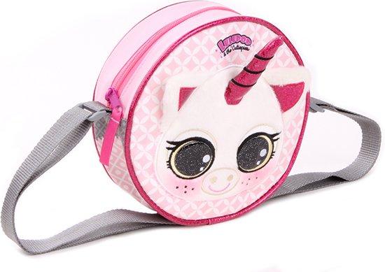 6e82b194b2d Lulupop & the Cutiepies - unicorn - eenhoorn - schoudertas - kinderen -  roze - 18x18x6