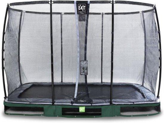 """EXIT Elegant Inground Trampoline 214 x 366 cm met Deluxe Veiligheidsnet """