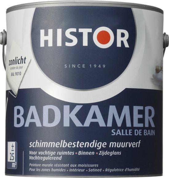 bol.com | Histor Badkamer Muurverf - 2,5 liter - Zonlicht