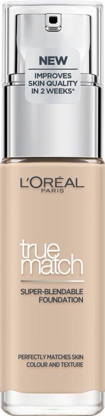 L'Oréal Paris True Match Foundation - R1/C1 Ivoire Rose  - Natuurlijk Dekkend - 30 ml