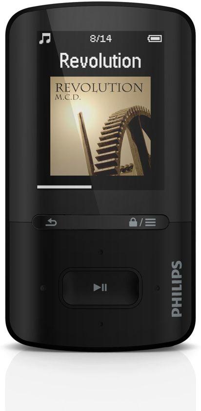Philips GoGear Vibe - MP4-speler - 8 GB - Zwart