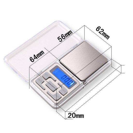 Professionele Digitale Precisie Pocket Mini ( Keuken ) Nauwkeurige Weegschaal 0,01 tot 200 Gram - Mini Digitaal Zakweegschaal / Weegschaaltje