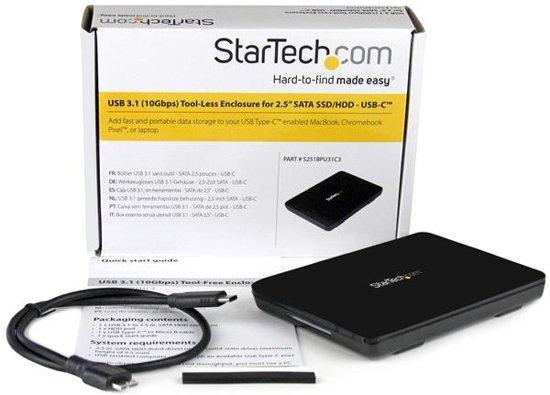 StarTech.com USB 3.1 (10Gbps) gereedschapsloze behuizing voor 2,5'' SATA SSD/HDD USB-C