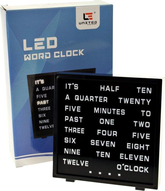 United entertainment LED Word Clock - Engels