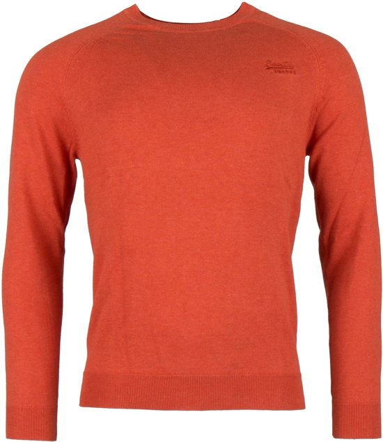 Superdry Orange Label Cotton Crew  Sporttrui - Maat L  - Mannen - oranje
