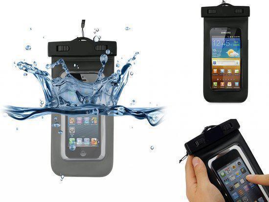Samsung Galaxy Young S6310 Waterdichte Telefoon Hoes, Waterproof Case, Waterbestendig Etui, Kleur Zwart, merk i12Cover