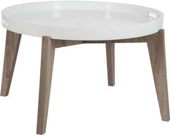 Bol.com bijzettafel rond hout wit