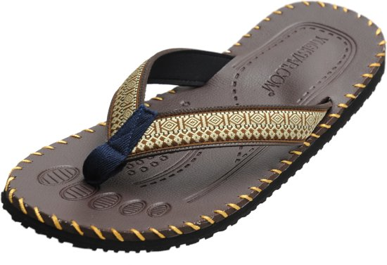 c3a4c9181fe Yoga sandalen mannen - brown 42 Slippers YOGISTAR
