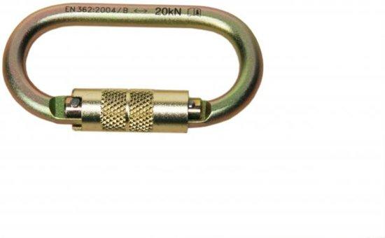 Lanex AZ011T; Stalen karabijnhaak 108 x 60 mm met draaislot
