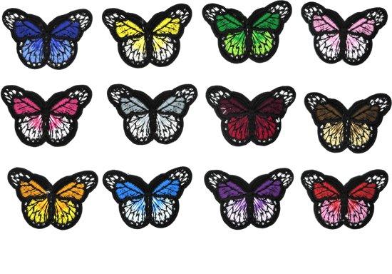 Nieuw bol.com   Strijk embleem 'Vlinders klein patch set (12)' – stof MW-44