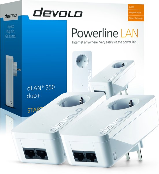 Devolo dLan 550 - Powerline - 2 Stuks - BE