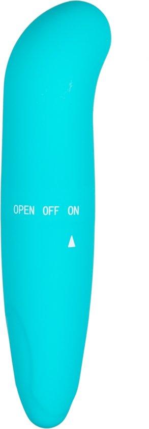 EasyToys - Mini G-vibe G-spot vibrator, waterproof zodat u overal intens kunt genieten - Turquoise