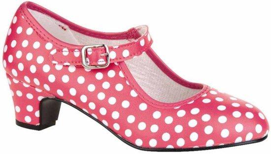 MixMamas Spaanse Prinsessen Schoen Stippen - Roze/wit