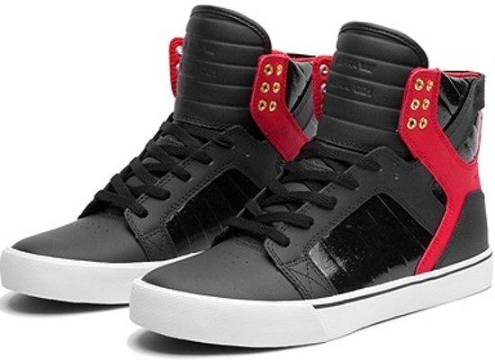 Supra Maat rood Sneakers Skytop 36 Zwart TPTSvqUn