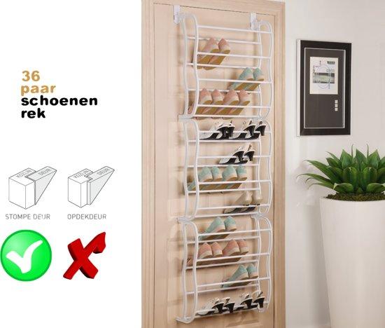 Schoenenrek - Schoenen opbergen aan deurhanger - 36 paar - DisQounts