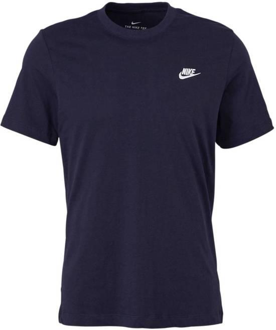 Nike Nsw Club Tee T-shirt Heren - Dark Obsidian/(White) - Maat M