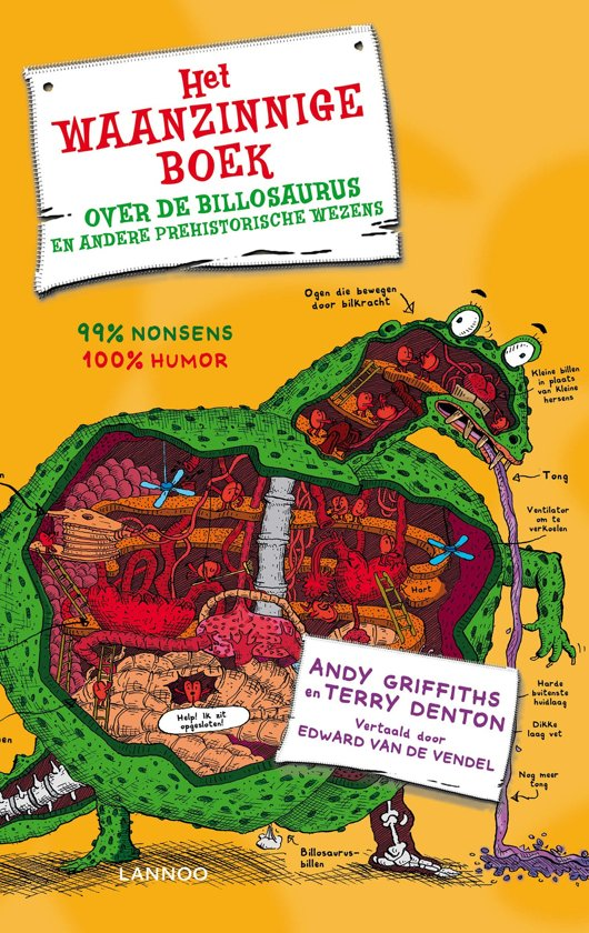Boek cover Het waanzinnige boek over de billosaurus en andere prehistorische wezens van Andy Griffiths (Hardcover)