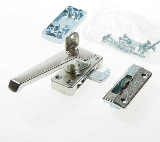 AXA 3319 Veiligheids raamsluiting - 3319-41-92/GE - draairichting 4 - Aluminium F2