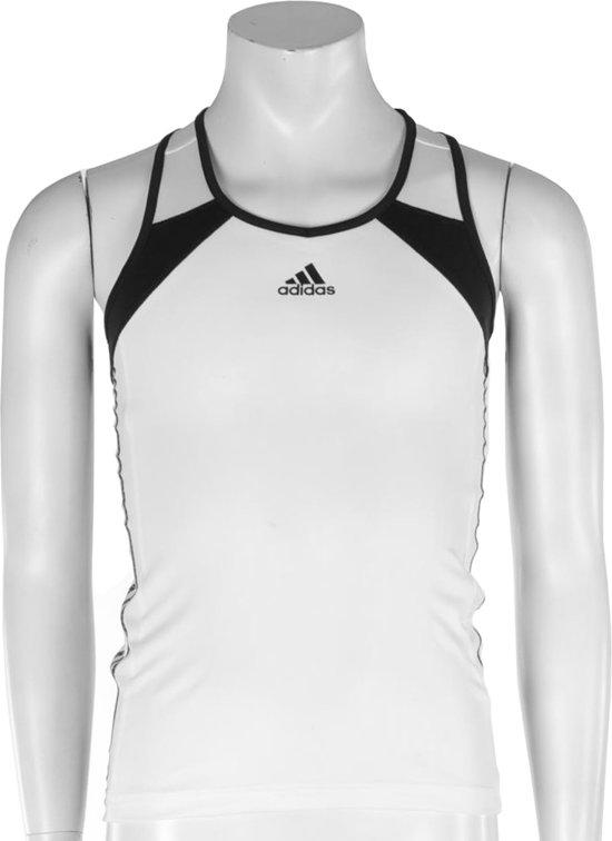 adidas Girls Response Tank - Sporttop - Kinderen - Maat 116 - Wit;Zwart