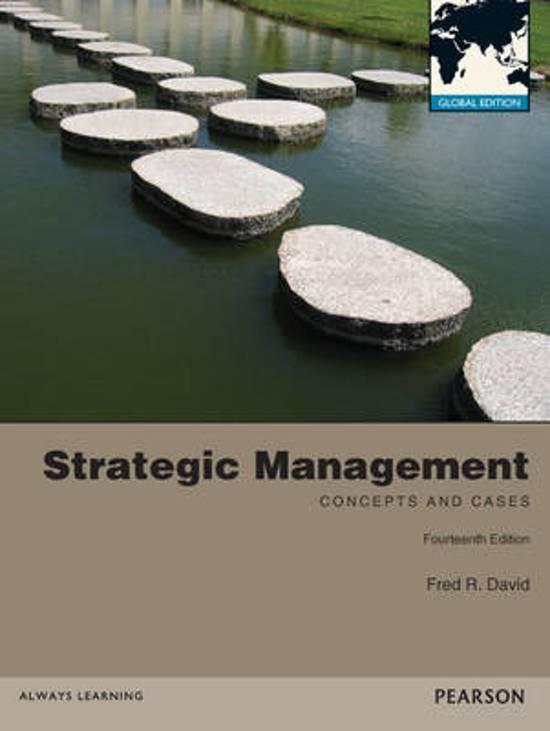 strategic management by fred r david