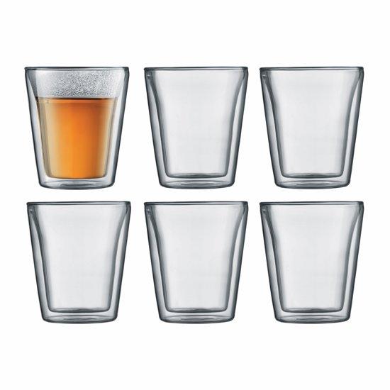Bodum Canteen Dubbelwandige Glazen - 200 ml - 6 stuks