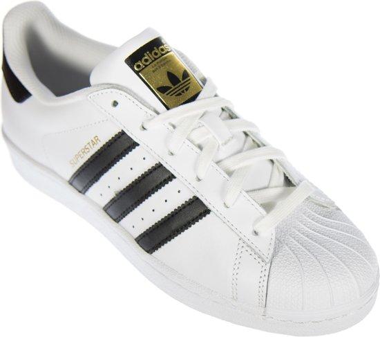 adidas Superstar Sneakers Sportschoenen - Maat 41 1/3 - Unisex -  wit/zwart/goud