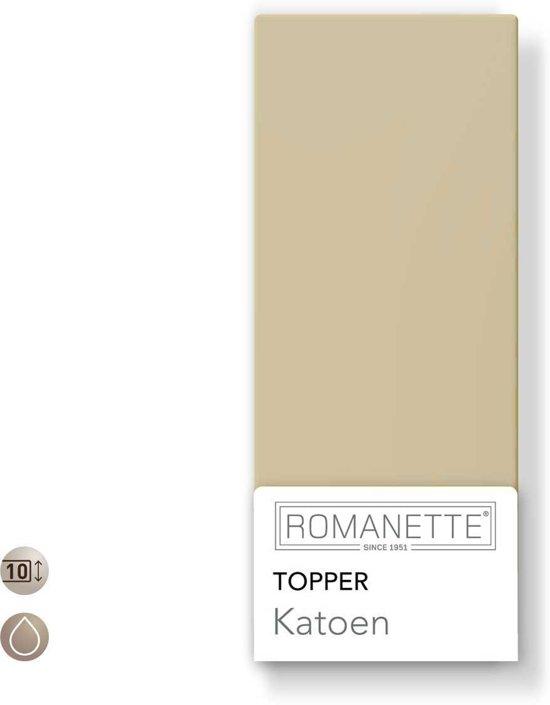 Topper Hoeslaken 80x200.Bol Com Romanette Topper Hoeslaken Camel 1 Persoons 80x200 Cm