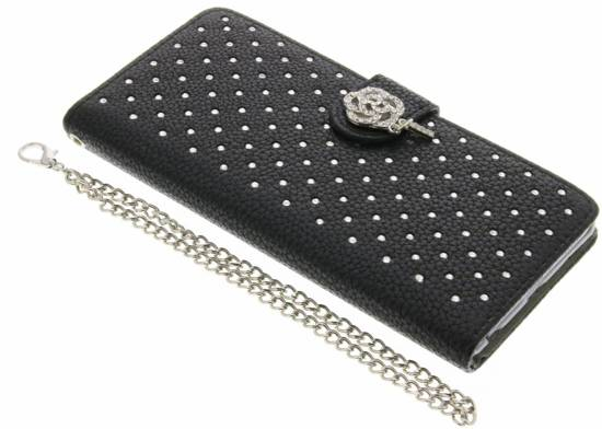 Cas Rose Booktype Strass Chic Pour Huawei Lite P8 (2017) 9bumGkuwER