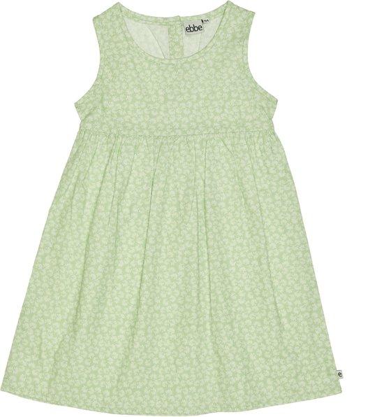 Ebbe - katoenen jurk - model Claudia - groen - Maat 98