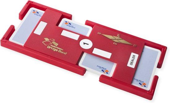 Thumbnail van een extra afbeelding van het spel Set van 4 Nederlandse Bridge Bond Boards, rood