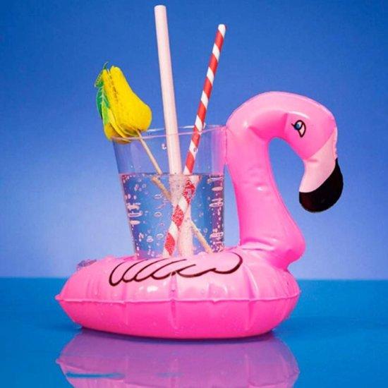 Opblaasbare Flamingo Bekerhouder Set - 4 stuks | Opblaas Drankhouder | Opblaasartikel | Zwembadaccessoire | Drankhouders | Bekerhouders | Opblaasartikelen | Opblaasfiguur