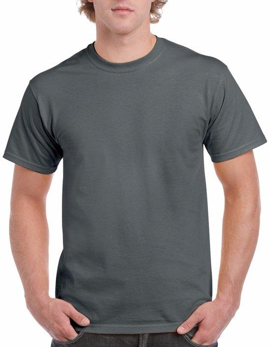 Antraciet grijs katoenen shirt voor volwassenen L (40/52)