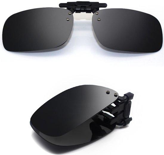 adf0dc4463d301 aa commerce - Opvouwbare Clip On Zonnebril - Gepolariseerde   Anti UV400 -  Zwart